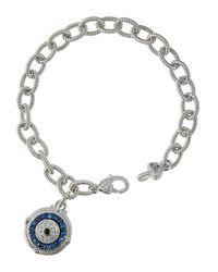 Judith Ripka | Blue Evil Eye Charm Bracelet | Lyst