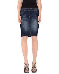 Guess - Blue Denim Skirt - Lyst