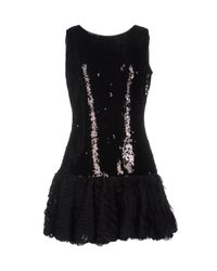 Blugirl Blumarine   Black Short Dress   Lyst
