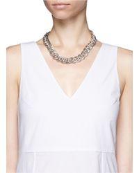 Philippe Audibert - Metallic Gourmette Chain Necklace - Lyst