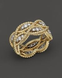 Roberto Coin | Metallic 18k Yellow Gold New Barocco Diamond Ring | Lyst