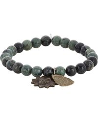 Miracle Icons | Kanbaba Jasper Charm Bracelet-green for Men | Lyst