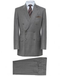 Jules B - Gray Two Piece Pinstripe Double Breasted Suit for Men - Lyst