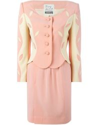 Moschino | Pink Skirt And Blazer Suit | Lyst