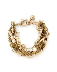Lulu Frost | Metallic 'kinship' Jewel Ring Twist Chain Pearl Bracelet | Lyst