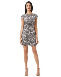 Adrianna Papell | Multicolor Plus Sequined Chiffon Cap Sleeve Dress | Lyst