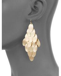 Saks Fifth Avenue - Metallic Chandelier Earrings - Lyst