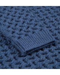 Sunspel | Blue Women's Textured Merino Jumper | Lyst