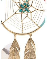 Aurelie Bidermann - Metallic Dreamcatcher Gold-Plated Earrings - Lyst