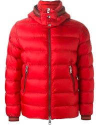 Moncler - Red 'thoule' Padded Jacket for Men - Lyst