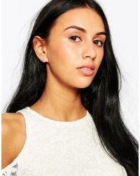 Estella Bartlett | Metallic Silver Plated Solitaire Earrings | Lyst