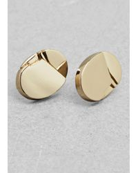 & Other Stories - Metallic Cracked Stud Earrings - Lyst