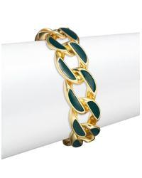Karen Kane - Green Curb Chain Bracelet - Lyst