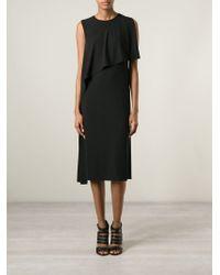 Givenchy - Black Draped Layered Dress - Lyst