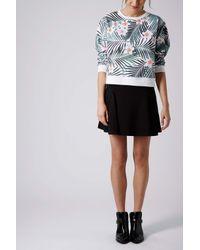119fd70bfe TOPSHOP Black Godet Flippy Skirt in Black - Lyst