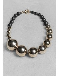 & Other Stories | Metallic Sphere Necklace | Lyst