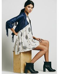 Free People - Gray Sleeveless Retro Print Tunic - Lyst
