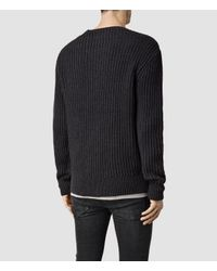 AllSaints - Gray Flagg Crew Jumper for Men - Lyst