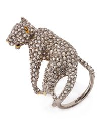 Alexis Bittar | Metallic Elements Lounging Panther Cocktail Ring | Lyst