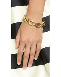 Michael Kors | Metallic Maritime Link Toggle Bracelet - Gold | Lyst