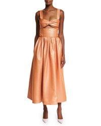 Rosie Assoulin - Orange Morning After Cutout Midi Dress - Lyst