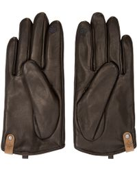 Mackage - Black Leather Touh_screen Alisee Gloves - Lyst