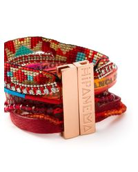 Hipanema | Red Stacked Bangle Bracelet | Lyst