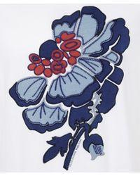 Alexander McQueen | White Crew Neck Floral Print T-shirt | Lyst