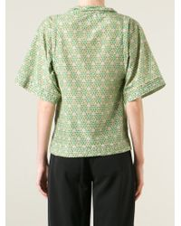 Societe Anonyme - Green Kaleidoscopic Print Blouse - Lyst