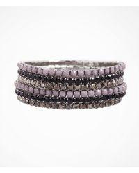 Express - Metallic Six Row Rhinestone Stretch Bracelet Set - Lyst