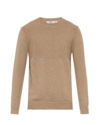 Inis Meáin - Natural Contrast-Weave Linen Sweater for Men - Lyst