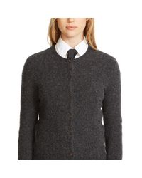 Polo Ralph Lauren | Gray Wool-cashmere Cardigan | Lyst