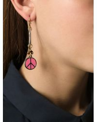 Marc By Marc Jacobs - Pink Peace Dangle Earrings - Lyst