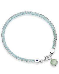 Astley Clarke | Metallic Silver Aventurine Woven Biography Bracelet | Lyst