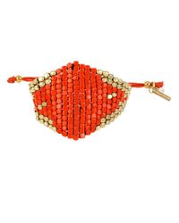 Kenneth Cole | Red Citrus Slice Mixed Bead Friendship Bracelet | Lyst