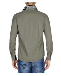 Napapijri | Green Long Sleeve Shirt for Men | Lyst