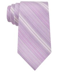 Calvin Klein | Pink Horizon Striped Slim Tie for Men | Lyst