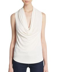 Ramy Brook | White Laurie Cowlneck Top | Lyst