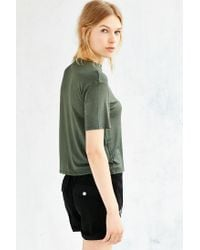Silence + Noise | Green Jackie Mock-neck Tee | Lyst