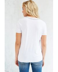 Truly Madly Deeply - White Sal Boyfriend V-neck Tee - Lyst