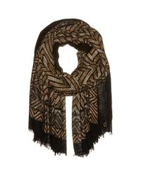 Calvin Klein - Brown Chevron Border Wrap - Lyst