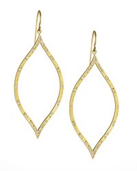Jamie Wolf | Metallic Engraved Diamond Leaf Earrings | Lyst