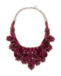 Valentino | Red Crystal Embellished Satin Backing Choker | Lyst