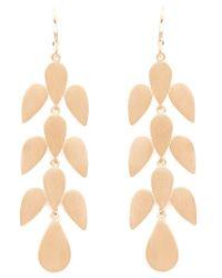 Irene Neuwirth - Metallic Leaf Drop Earrings - Lyst