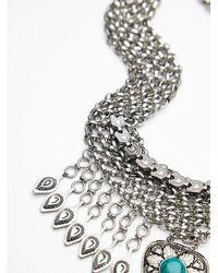 Free People - Metallic Womens Drippy Mesh Collar - Lyst