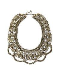 BaubleBar | Metallic Twinkle Chain Bib | Lyst