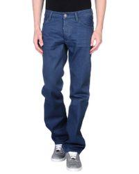 Calvin Klein Jeans - Blue Denim Trousers for Men - Lyst