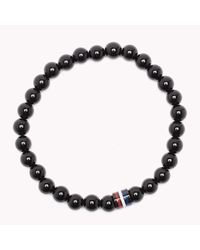 Tommy Hilfiger | Black Bead Bracelet for Men | Lyst