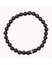 Tommy Hilfiger - Black Bead Bracelet for Men - Lyst