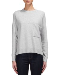 Whistles - Brown Pocket Detail Cashmere Jumper - Lyst